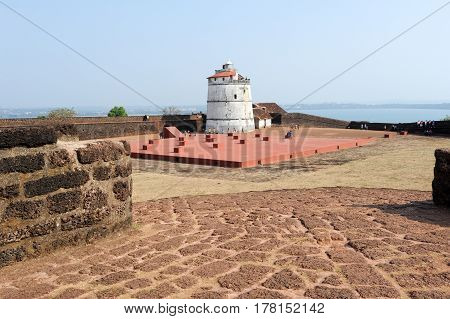 Lighthouse In Aguada Fort