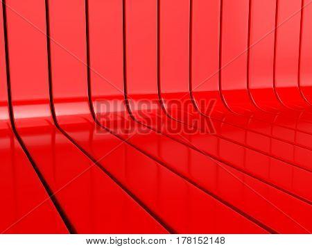 Line Background 3D Illustration
