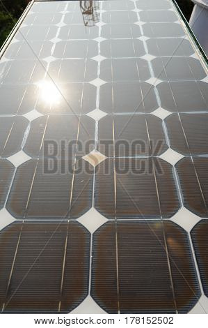 Closeup of solar Panels for environmental energy