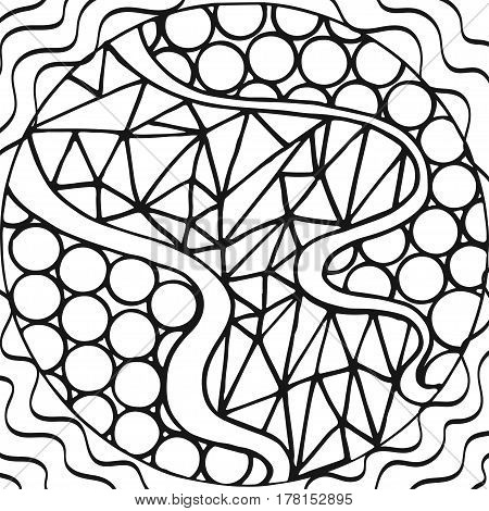 Abstract hand drawn background. Doodle pattern. Vector illustration
