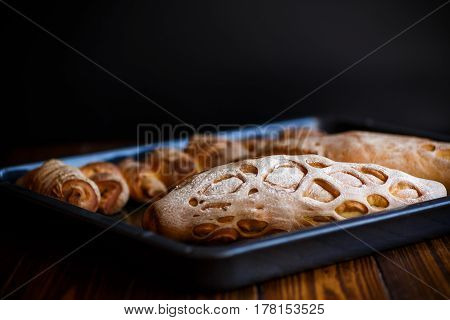 bread shaped in the form of home baking
