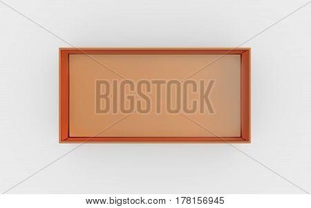 Copper Box Tray Top View