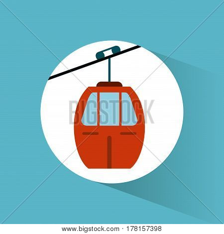 sky cable car transport vehicle image vector illustration eps 10
