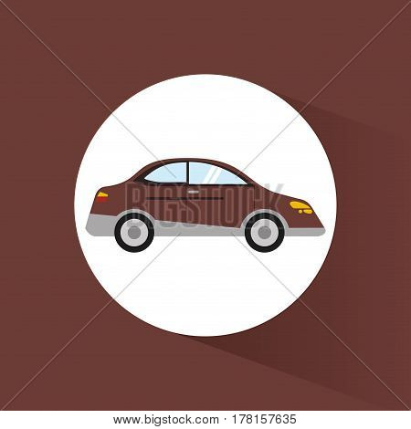 car sedan transport vehicle image vector illustration eps 10