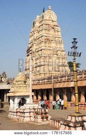 View Of Shiva-virupaksha Temple At Hampi, India