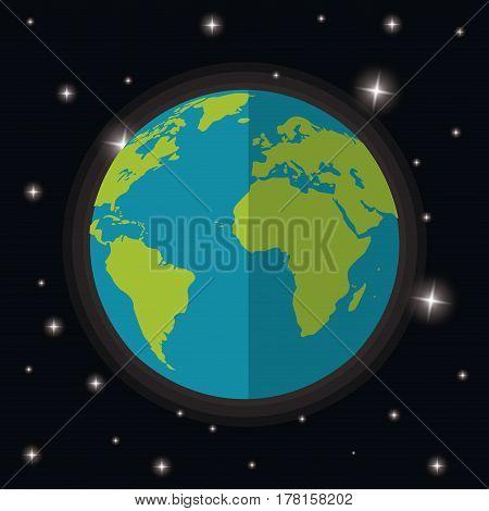 earth planet world stars space vector illustration eps 10