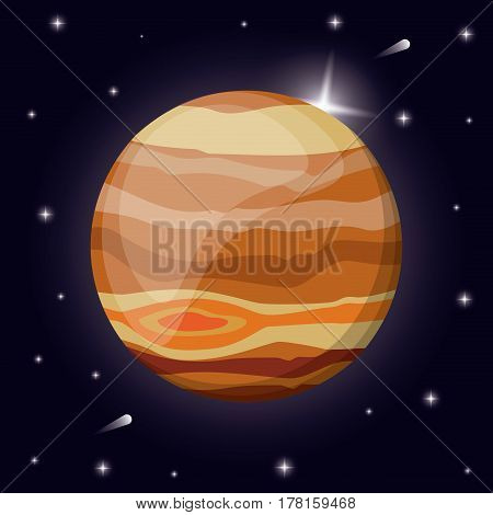 jupiter planet solar system space vector illustration eps 10