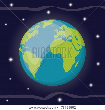 earth planet solar system space vector illustration eps 10