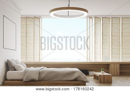 Bedroom With Round Lamp, Side