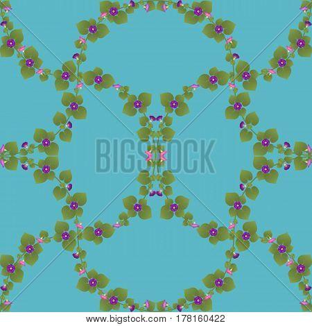Pattern graphics wallpaper convolvulus flower leaf green design