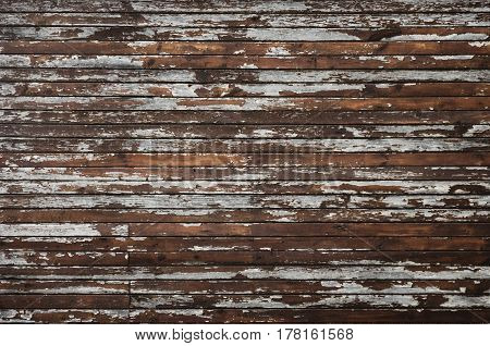 weathered cracked wood planking wall abstract background