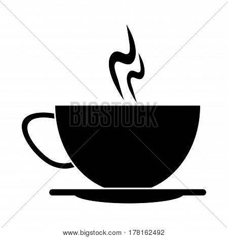 cup of coffee smoke hot pictogram vector illustration eps 10