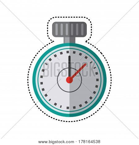cartoon chronometer time sport tool vector illustration eps 10