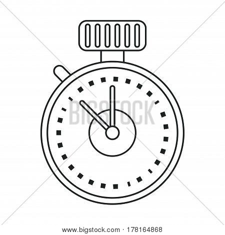 chronometer time sport tool outline vector illustration eps 10