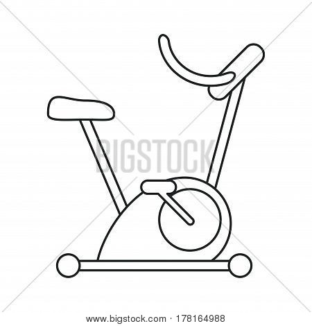 bicycle static exercise training outline vector illustration eps 10