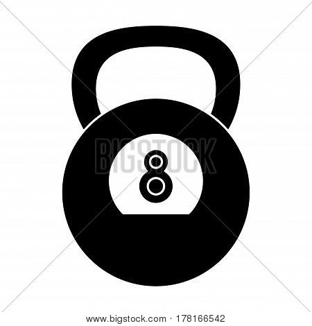 kettlebell weight gym fitness pictogram vector illustration eps 10