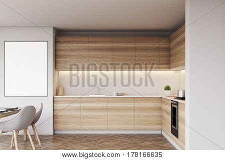 Kitchen Interior With Poster
