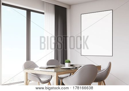 Close Up Of Kitchen Table And Poster
