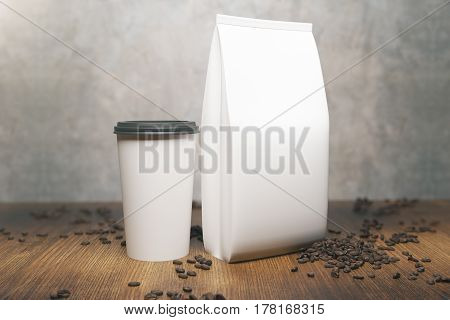 White Coffee Package And Cup