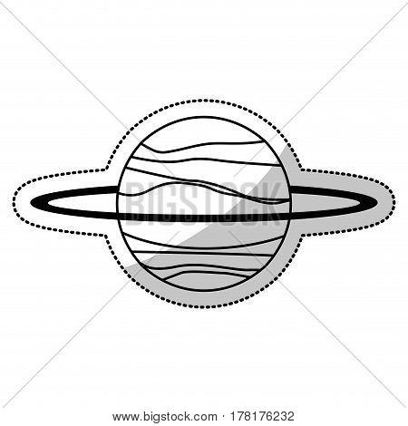 uranus planet solar system line vector illustration eps 10