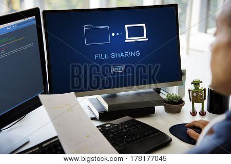File Sharing Transfer Data Concept