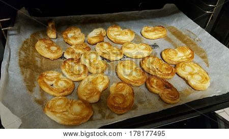 homemade pastry originaly from Argentina called palmertitas