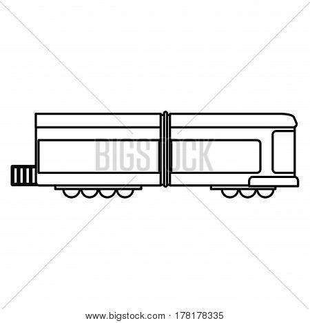 train transport wagon traditional outline vector illustration eps 10