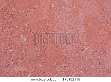 Grungy Red Roughcast Wall