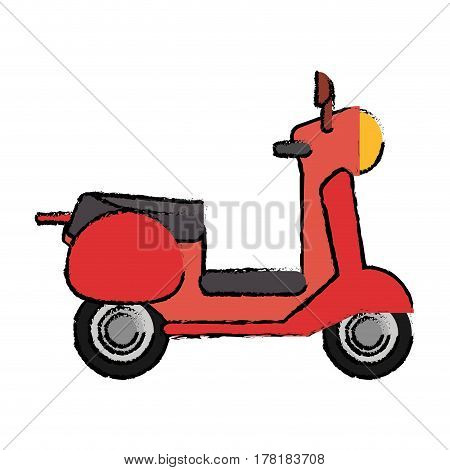 scooter motor transport icon vector illustration eps 10