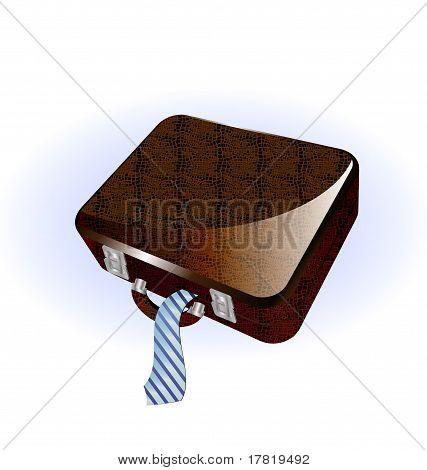 big brown suitcase
