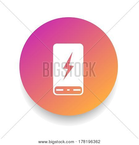 Power Bank icon in circle. Vector illustration