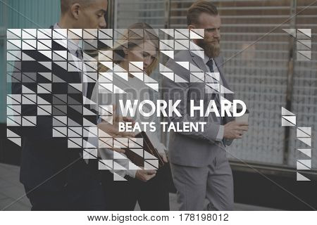 Work Hard Talent Positive Challenge Improvement