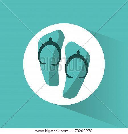 flip flop beach accesory vector illustration eps 10