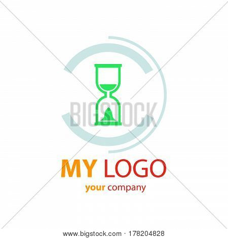 hourglass logo vector vector design support eps10.