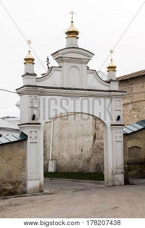 Church Gate. The Entrance To The Church. Login Monastery.