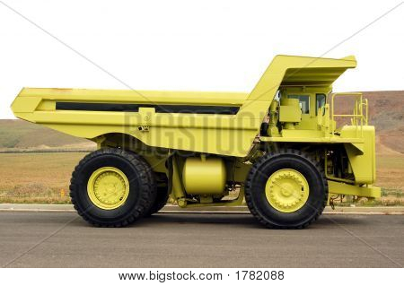 Large Yellow Quarry Truck
