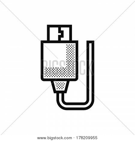 USB Adapter icon Dotted Style vector design support file eps10.