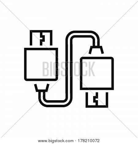Twin USB Adapter Line icon vector design support file eps10.