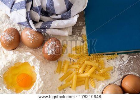 traditional handmade pasta background