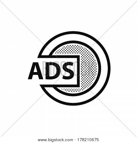 Design Dotted Advertisement icon vector support file eps10.