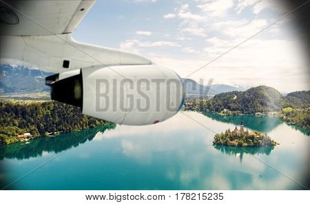 Travel by plane to Slovenia, looking at Bled