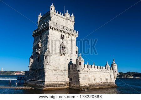 Belem Tower or the Tower of St Vincent in lisbon Portugal
