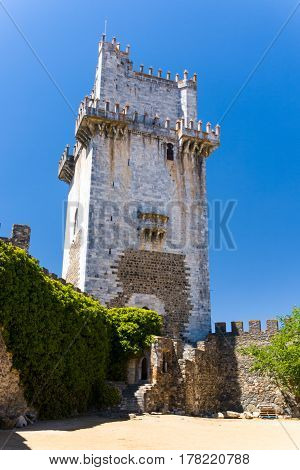 Castelo de Beja in the Alentejo region in summer