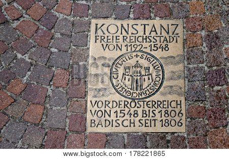 Konstanz Pavement Plaque