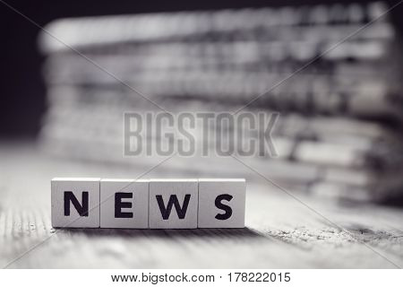 News and newspaper headlines concept for media, journalism, press or newsletter