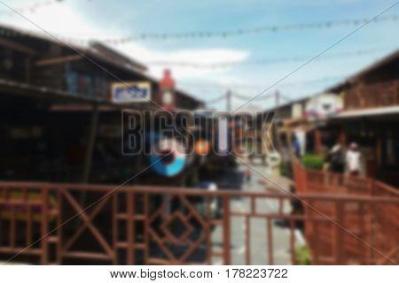 blurred photo, Blurry image, Retro city, background