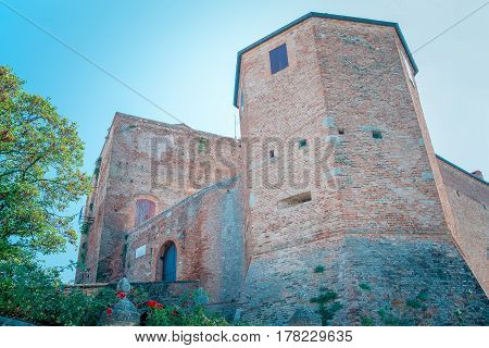 Malatesta Castle in Santarcangelo Romagna Italy Europe