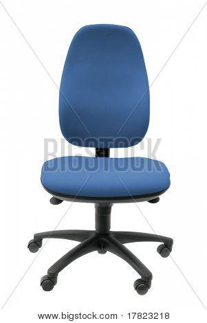 Bürostuhl Operatoren isoliert auf weißem Hintergrund