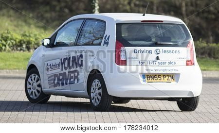 BRISTOL UK - MARCH 25 2017: Young driver training centre for under-age drivers (11-17 years) sited at Cribbs Causeway Bristol