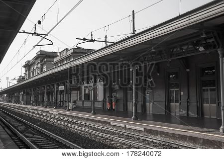 Old railway station Sunny afternoon in italy